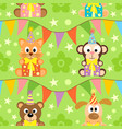 seamless background with animals funny vector image vector image
