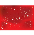Shining star on a red background vector image vector image