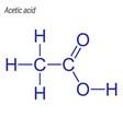 skeletal formula acetic acid drug chemical