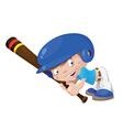 smile baseball boy vector image vector image