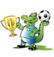 soccer-champion vector image vector image