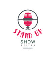 stand up show logo design comedy club sign vector image vector image