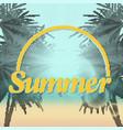 summer sunset beach vector image