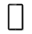 Tablet with blank screen vector image vector image