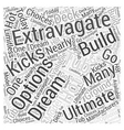 The Ultimate Extravagate Hot Tub Word Cloud vector image vector image