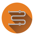 Towel dryer icon vector image