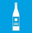 wine bottle icon white vector image vector image