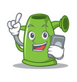 with phone watering can character cartoon vector image