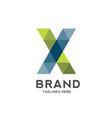 x letter geometric logo vector image