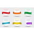 Set of white banners with ribbon vector image