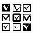 Check icons set vector image