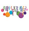 colourful balloon banner vector image