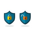 flat safety icons isolated white lock and unlock vector image