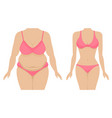 a fat and thin female body vector image vector image