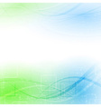 Abstract green blue particle wind vector image vector image