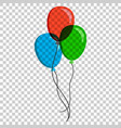 air balloon flat icon birthday baloon on isolated vector image