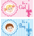 Baby Announcement Cards vector image vector image