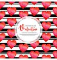 black stripe valentine background vector image vector image