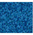 Blue 3d cube mosaic pattern background vector image vector image