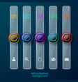 bookmark business social background vector image