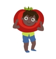 Boy Dressed As Tomato vector image vector image