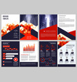 business brochure template annual report vector image vector image