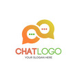 chat logotype gradient style vector image