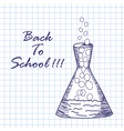 Chemical flask vector image vector image