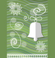 christmas decoration with paper cut xmas symbols vector image