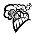 cigar smoking mouth teeth icon vector image vector image