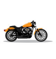 classic detailed motorcycle in flat style design vector image vector image