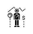 consumer research icon black vector image
