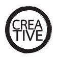 creative word design vector image