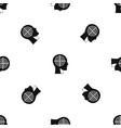 crosshair in human head pattern seamless black vector image vector image