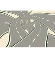 Crossing Tangled Roads vector image