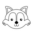 cute fox face cartoon vector image vector image