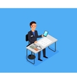 Engineer at Work Concept vector image