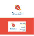 flat rugby ball logo and visiting card template vector image vector image