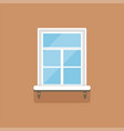 flat window with decorative facade cornice on vector image vector image