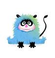funny devil child monster character for kids vector image vector image