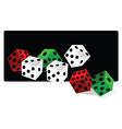 gamble dice vector image vector image