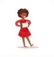 Girl Playing Accordion Creative Child Practicing vector image
