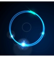 Glow blue neon ring shiny background vector image vector image