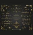 golden frames and borders set vector image vector image