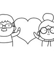 grandmother and grandfather cartoon design vector image vector image