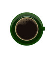 green cup of coffeedrink coffee this morning vector image vector image