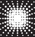 halftone radial pattern background dots texture vector image vector image