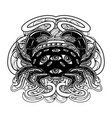 hand drawn crab with eyes and vector image vector image