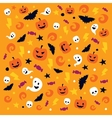 Happy Halloween pattern with traditional elements vector image