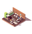 isometric secure car parking vector image vector image